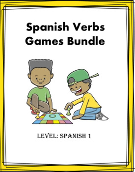 Spanish Mini Bundle: Four Verb Games at 25% off!