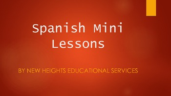 Spanish Mini Lesson - #1 Phonics