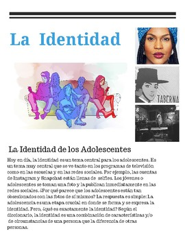 Spanish Unit Level 3+ AP-Identity,Culture-25+ Differentiated Activities-Bundle