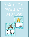 Spanish Mini word wall alphabet