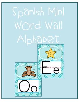 Spanish Mini word wall alphabet