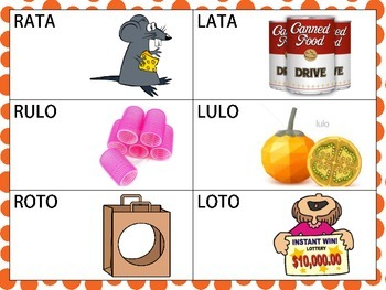 Spanish Minimal Pairs w Sounds /r/ and /l/ in the Initial Position of CVCV Words
