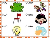 Spanish Minimal Pairs with  /s/ and /ch/ in the Initial & Medial Position