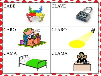 Spanish Minimal Pairs with the CL blend in the Initial Pos