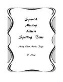 Spanish Missing Letters Spelling Tests (25)