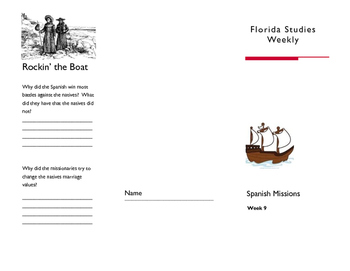 Spanish Missions-Florida Studies Weekly Interactive Brochure