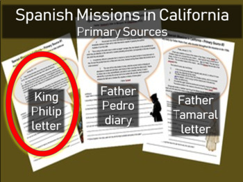 Spanish Missions in California - Primary Source with Guiding Questions (1 of 3)
