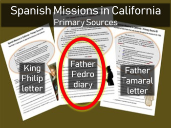 Spanish Missions in California - Primary Source with Guiding Questions (2 of 3)