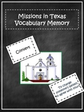 Spanish Missions in Texas Vocabulary Memory