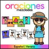 Spanish Mixed Sentence Center- Centro de Oraciones Mezcladas Verano
