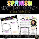 Spanish Modern Meet the Teacher Template - EDITABLE
