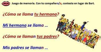 Spanish Module 4 Lesson 1 Family members & possessive adjectives