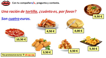 Spanish Module 5 Lesson 3 naming tapas & drinks to order in a café