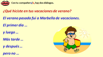 Spanish Module 6 Lesson 2 Saying what you did on vacation