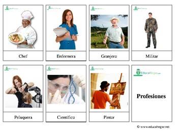 Professions: *SPANISH*  Montessori 3-part Cards