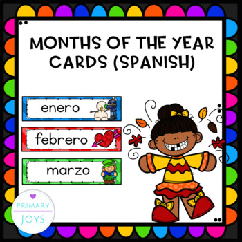 Spanish Monthly Calendar Labels