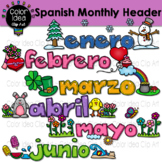 Spanish Monthly Header Clip Art