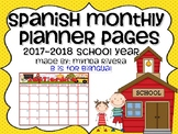 Spanish Monthly Planner Pages
