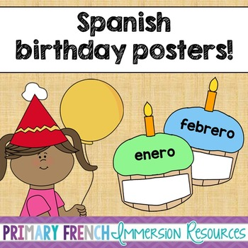 Spanish birthday posters
