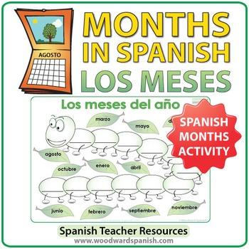 Spanish Months Activity - The Caterpillar - La Oruga