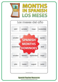 Spanish Months Dominoes