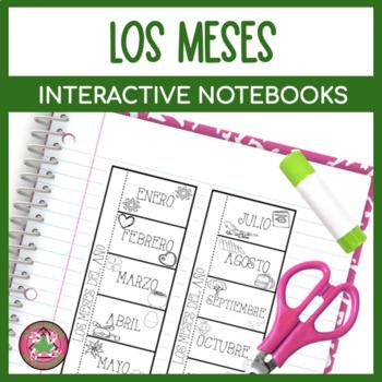 Spanish Months Flipbook Interactive Notebook