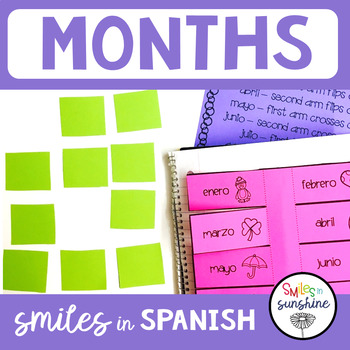 Spanish Months: Matching Game, Song, Interactive Notebook