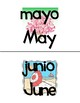 Spanish Months Mini Posters