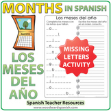 Spanish Months - Missing letters and Month Order