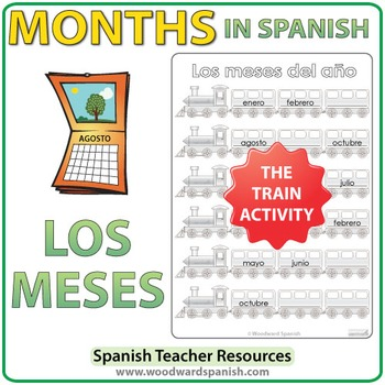 Spanish Months - Train Worksheets
