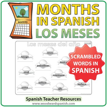 Spanish Months - UFO Worksheet