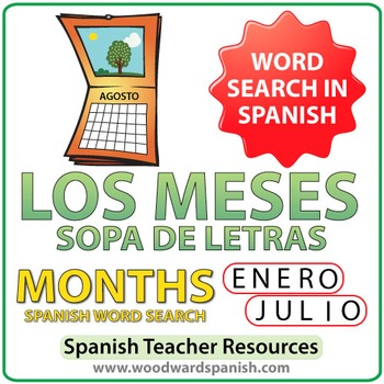 Spanish Months Word Search - Los Meses - Sopa de Letras