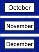 Spanish Months and Seasons Pocket Chart Cards and Worksheets Español Blue