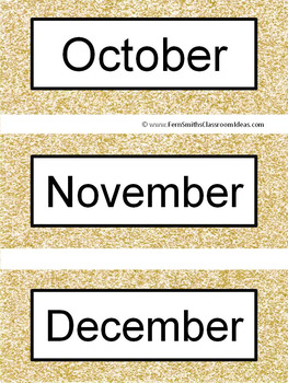 Spanish Months and Seasons Pocket Chart Cards and Worksheets Español Rose Gold