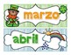Spanish Months of the Year Calendar Headers & Numbers-Holiday and Season Themed
