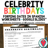 Spanish Calendar - Forming Dates in Spanish with Celebrity Birthdays