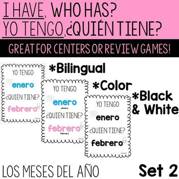 Spanish Months of the Year Game / Juego de los meses del ano - BILINGUAL