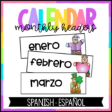 Spanish Months of the Year Headers
