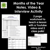 Spanish Months of the Year/Los Meses del Año Video Notes a