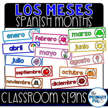 Spanish Months of the Year Signs