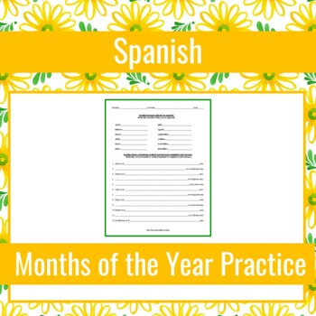 Spanish Months of the Year Practice (Los Meses)