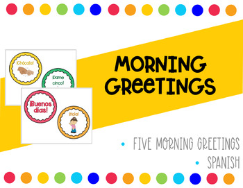Spanish morning greetings by iteach513 teachers pay teachers spanish morning greetings m4hsunfo
