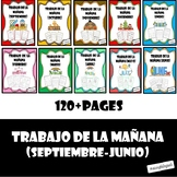 Spanish Morning Work Bundle (Sept-June) Trabajo de la manana (Septiembre-Junio)