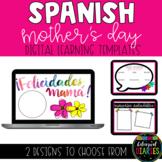 Spanish Mother's Day Digital Learning Google Slides Template