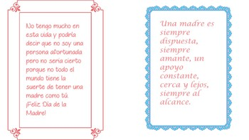 Spanish Mother''s Day cards
