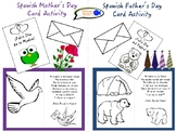 Spanish Mother's & Father's Day Cards Activity