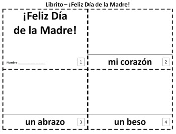 Spanish Mother's Day 2 Booklets - El Día de la Madre