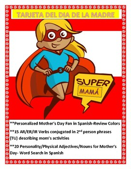 Spanish Mother's Day - Students Make a Fan Card for MOM - Dia de la Madre