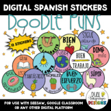 Spanish Motivational Digital Stickers / Stamps | Distance