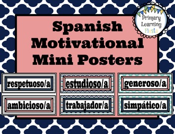 Spanish Motivational Mini Posters
